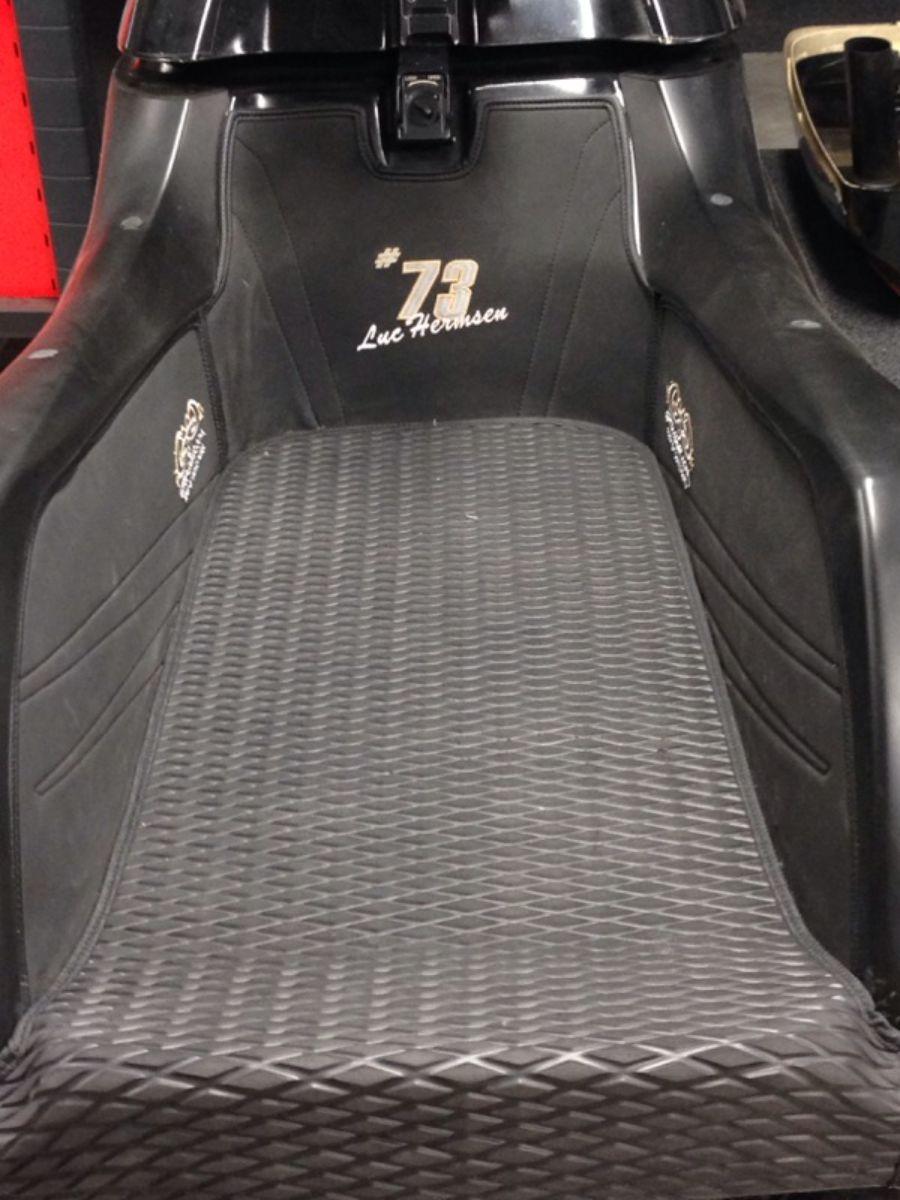 Kawasaki sx-r 800 mattenset zwart incl naam Image