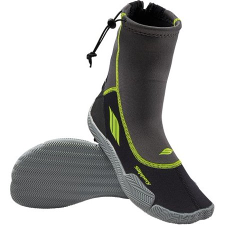 Slippery AMP Wetsuit Boots Black/Lime Image